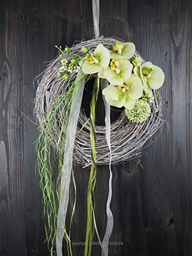 Türkranz grüne Orchidee