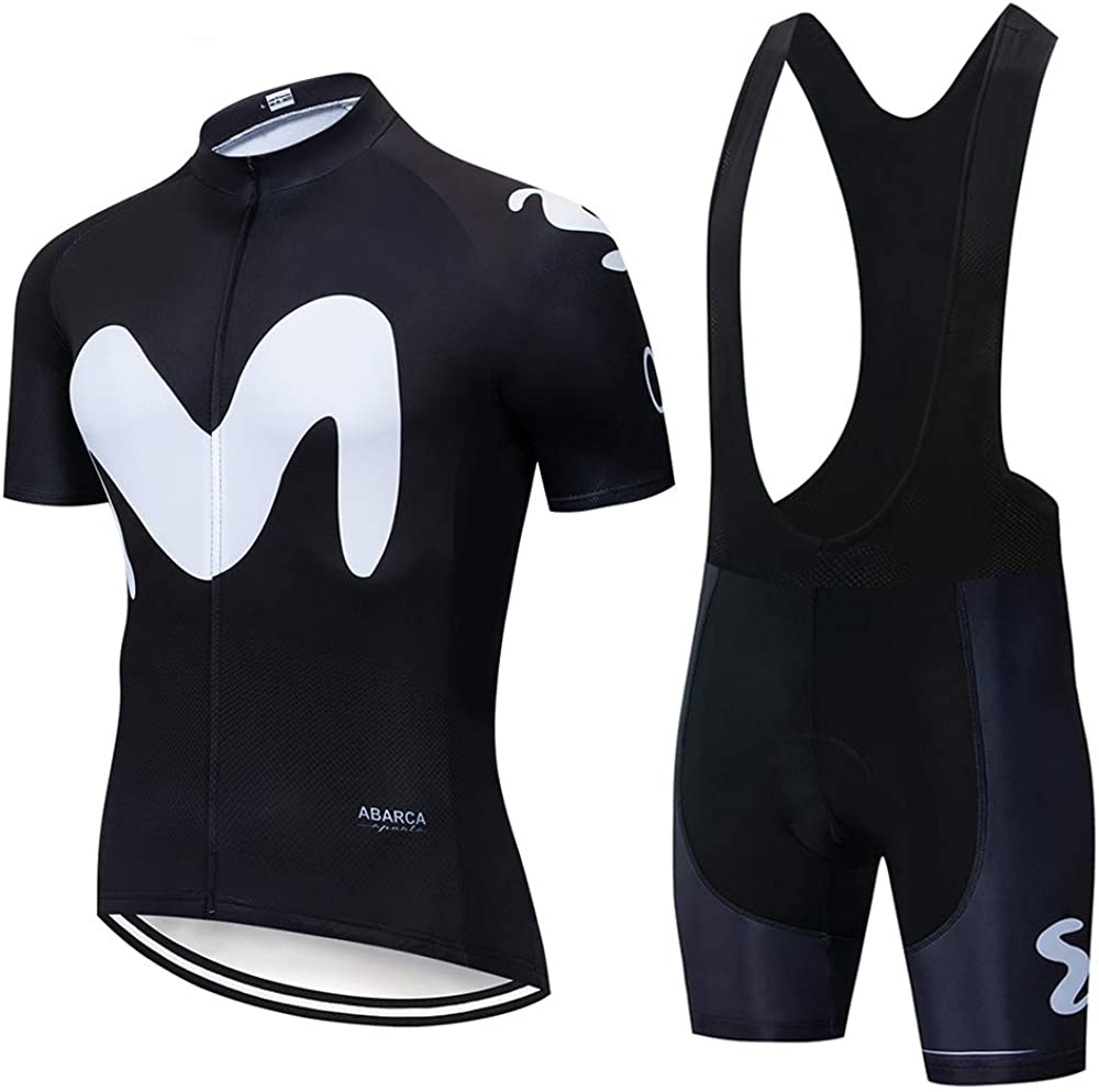 short sleeves and 3D gel padding shorts VFGSB Mens cycling wear breathable and quick-drying wicking outdoor clothes