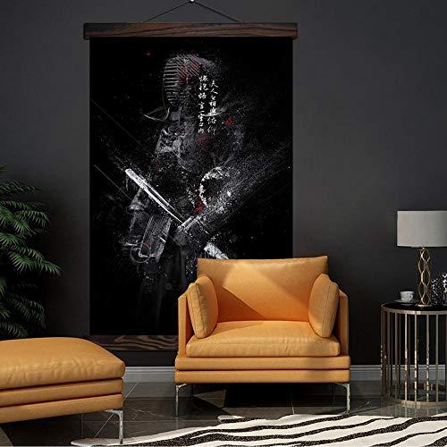 Leinwand Druck Plakat Samurai Poster Malerei Moderne Leinwand Kunstdrucke Poster Wand Leinwand Gemälde Wand Kunst Bilder Home Decor