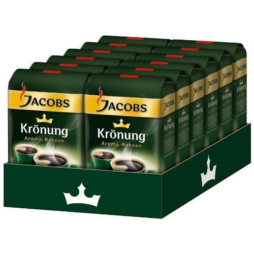 JACOBS KRONUNG WHOLE BEAN AROMA BOHNEN COFFEE CASE 12 x 500g by JACOBS WHOLE BEAN COFFEE