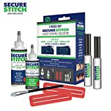 Secure Stitch Liquid Sewing Solution Kit! Fabric Glue That Quickly Mends, Alters, Hems & Embellishes Without a...