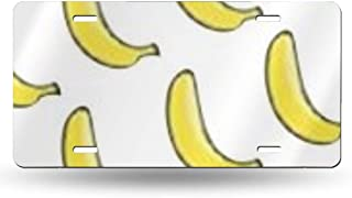 NOWDIDA License Plate, Mr.Banana Decorative Car Front License Plate, Vanity Tag, Metal Car Plate, Aluminum Novelty License Plate for Men/Women/Boy/Girls Car, 6 X 12 Inch