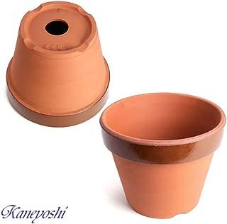 鉢 KANEYOSHI 【日本製/安心の国産品質】 陶器 植木鉢 駄温鉢深 8号
