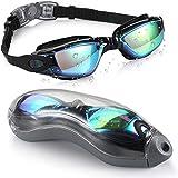 BOOM Gafas de Natación, Anti Niebla Cómodo Sello Gafas para Nadar Anti-UV Resistente Al Rayado con Correa Ajustable, para Piscina Y Mar, De Adulto Hombre Y Mujere