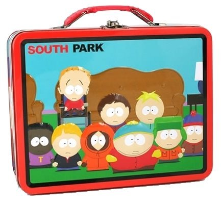 South Park Red and Blue Embossed Metal Lunch Box/ Carry-All (Red &...