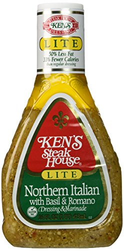 Ken's Steak House Lite Northern Italian with Basil and Romano Salad Dressing - 16 floz