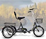 XHPC Bicicleta Vintage, Bicicleta Vieja Triciclo Conveniente para Ancianos Bicicleta Bicicleta eléctrica Triciclo Conveniente Compras Ocio Versión Alta