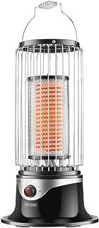Calentador: Estufa de tostación casera para jaulas de pájaros, Calentador Solar pequeño de Ahorro de energía Caliente de Velocidad de Oficina, calefacción de 360 Grados, luz Oscura silenciosa