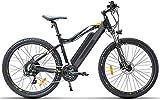 Bicicletas Eléctricas, Bicicleta eléctrica for adultos, 27.5 pulgadas de suspensión Montaña Urbano de cercanías bicicletas E 400W sin escobillas del motor 48V 13Ah batería extraíble de litio Tenedor d