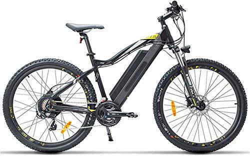 Bici electrica, Bicicleta eléctrica for adultos, 27.5 pulgadas de suspensión Montaña Urbano de cercanías bicicletas E 400W sin escobillas del motor 48V 13Ah batería extraíble de litio Tenedor de aceit