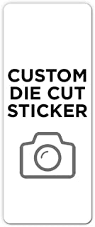 """250 Rectangle Custom Die Cut Stickers 2"""" x 5"""" for Laptops, Windows, Cell Phones, Cars. Upload Your own Image, Logo, or Des..."""