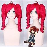2019 Vocaloid Miku Symphony Halloween Parrucca Cosplay Kasane Teto gioco di ruolo parrucche rosse cosplay con due capelli ricci Coda sintetica Parrucca taglia unicaPL-020
