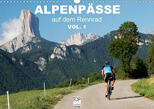 Alpenpässe auf dem Rennrad Vol. 1 (Wandkalender 2021 DIN A3 quer)