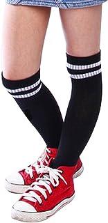 Niños Niños Deporte Fútbol Calcetines Largos de Alta calcetín Béisbol Hockey Calcetines (Negro)