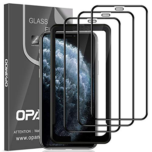opamoo Protector Pantalla para iPhone 11 Pro/XS/X, 3 Pack Co