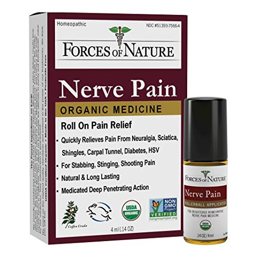 Forces of Nature -Natural, Organic Nerve Pain Relief (4ml) Non GMO, No Harmful Chemicals –Fast...