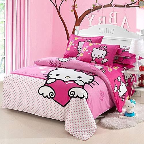 Ami0707 Ropa de Cama 3D Algodón 3/4 Piezas sábana Funda nórdica Juegos Super King Queen Full Kids Cartoon bedclothes4PCS150 * 200cm
