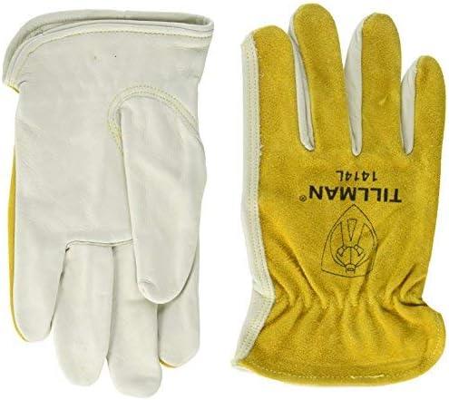 Kit of 3 John Bargain Tillman 1414 Split Cowhide Grain Top free Drivers Glove