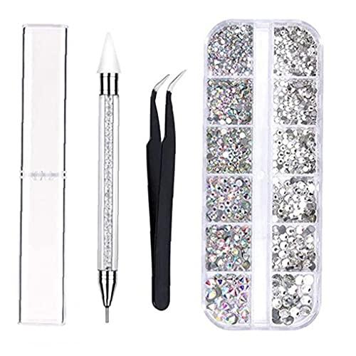 Art Décorations Strass Nail Picking Pen Dotting Pen Nails brucelles pour les filles Art bricolage Nail Designs Manucure Décoration, Outils et ongles Équipement