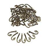 50tlg Angelhaken Anhänger Bronze Kettenanhänger Schmuck Haken Zubehör DIY
