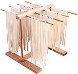 HCXIN Secador de pasta de madera, soporte para espaguetis, secador de pasta, secador de pasta, plegable, para cocina, hogar, secado de mano, pasta fresca (A)