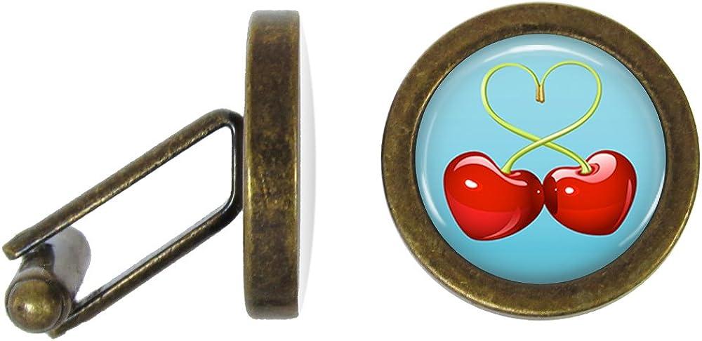 Bing Cherry Cufflinks Cherries Cuff Links (Angled Edition)