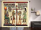 LKCD Cortinas Aislantes Paisaje Histórico Egipcio Marfil...