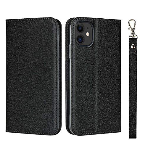 GIMTON iPhone 11 Hülle, Brieftasche Hülle mit Klapp Ständer und Magnet Verschluss für iPhone 11, Stoßfest Kratzfestes PU Leder Schutzhülle, Schwarz