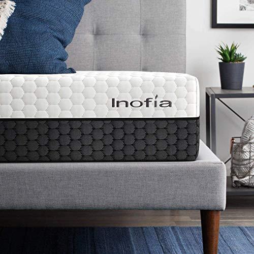 Inofia Matratze Memory Foam Matratze 200x200 Kaltschaummatratze 2in1 Liegehärten H3&H4 mittelfest&fest,Höhe 22cm,waschbar Bezug für Allergiker,100 Nächte Probeschlafen,10 Jahre Garantie
