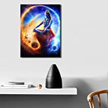 Fenfei Home Decoration Wall Art Canvas Posters and Print Canvas Painting Indian Gods Lord Shiva Pictures for Living Room Wall 50cm x75cm No Frame