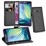 Cadorabo Funda Libro para Samsung Galaxy A3 2015 en Negro Fantasma - Cubierta Proteccíon con Cierre Magnético, Tarjetero y Función de Suporte - Etui Case Cover Carcasa