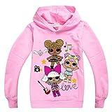 Socluer Sudadera con Capucha para Niñas Camisetas Dolls Cartoon Game Tops Girl LOL Impresión 3D