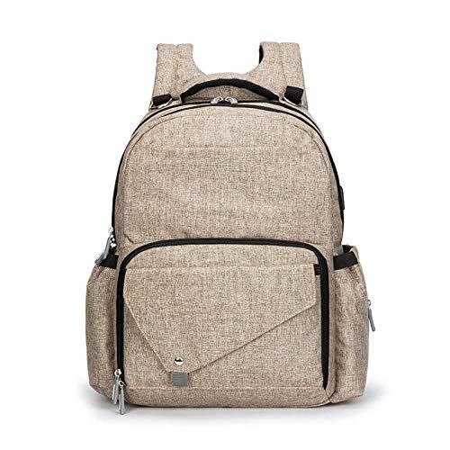 wpapers Multifunktionale Mode Doppelschulter Mama Tasche große Kapazität Mutter und Baby Tasche Rucksack-Bronze_Eine Größe