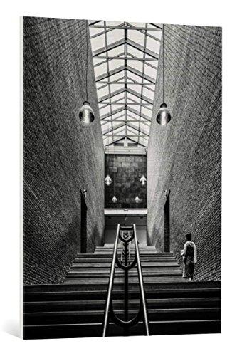 Kunst für Alle Cuadro en Lienzo: Luc Vangindertael The Long Stairs up - Impresión artística, Lienzo en Bastidor, 75x100 cm
