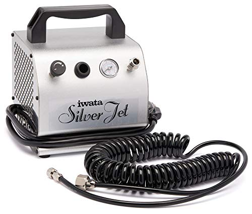 Iwata-Medea Studio Series Silver Jet Single Piston Air Compressor