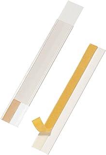 Durable 802519 Scanfix-scannerrails, inclusief etiketten, 200 x 40 mm, transparant, 50 stuks.
