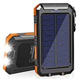SolarCharger 20000mAh Solar Power Bank Waterproof Portable Charger with Dual 5V USB Port/LED Flashlight Compatible withAll...