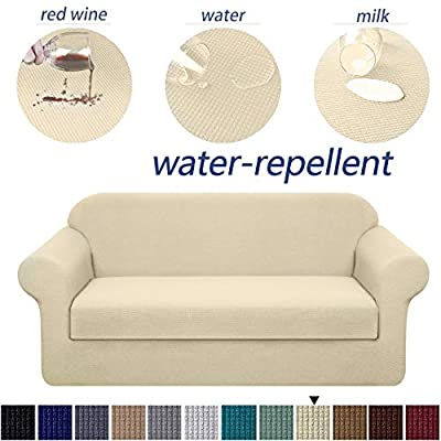 Granbest Premium Water Repellent Sofa Cover 2-Piece High Stretch Couch Slipcover Super Soft Fabric Couch Cover