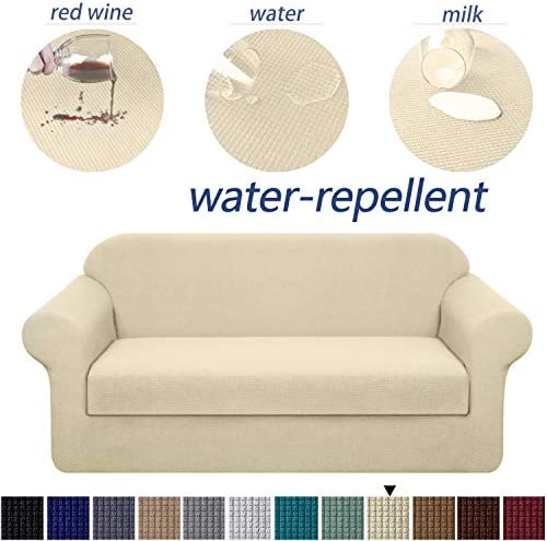 Best Granbest Stretch Sofa Slipcovers 3 Cushion Couch Covers Water-Repellent Pet Furniture Covers Dog Cou