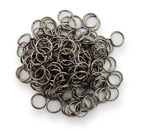 Binderinge / jump Rings 8mm Durchmesser Farbe Schwarz /
