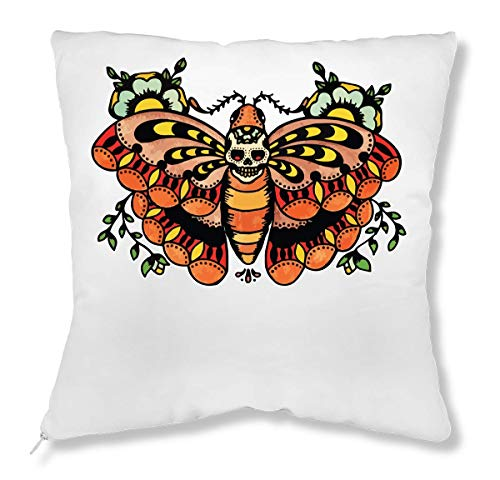 ShutUp Butterfly Old School Tattoo Collection Skull Vintage Colors Kussen