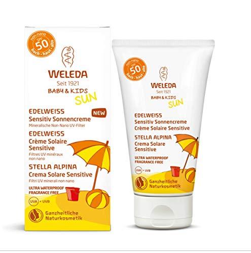 Edelweiss Sensitiv Sonnencreme LSF 50, extra wasserfest, parfümfrei, UVA- und UVB-Schutz, 50ml