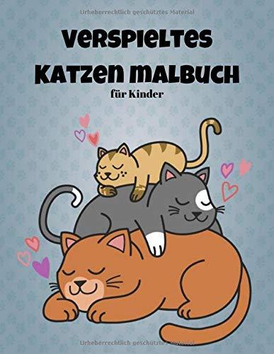 Verspieltes Katzenmalbuch für Kinder: 50 Singleside Cats & Kittens für Komfort und Kreativität für Erwachsene, Kinder und Mädchen Größe 8,5 x 11 Zoll (Katzen Malbuch für Kinder Band 7)