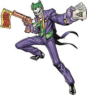 Joker Batman Bat Man Dark Knight DC Comics Justice League Beyonad Begins Forever Origins Returns Removable Vinyl Wall Decal Sticker Art Home Decor -6 1/2 Inch x 7 1/2 inch