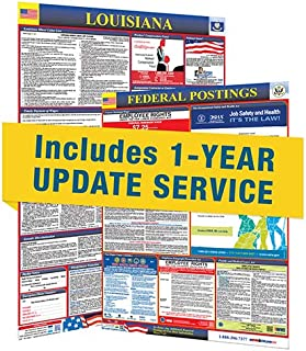 2019 Louisiana State & Federal Labor Law Posters with 1 Yr E Update Service
