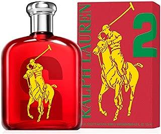 Polo Big Pony No. 2 by Ralph Lauren for Men, Eau de Toilette Spray, 4.2 Ounce