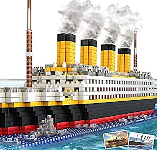 Titanic Model Micro Block Building Set-1860 Pcs Puzzle Gift for Kid and Adult,Ship Model Assembly Block Toy