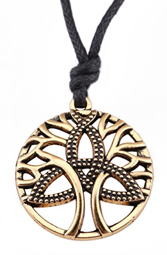 VASSAGO Vintage Talisman Tree of Life Yggdrasil with Celtic Trinity Knot Pendant Necklace for Men Women