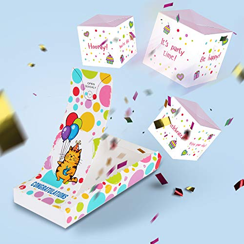 «BOOM» Congratulations card | Prank card with confetti - graduation, engagement, wedding, new job, new home. Wow effect funny greeting card