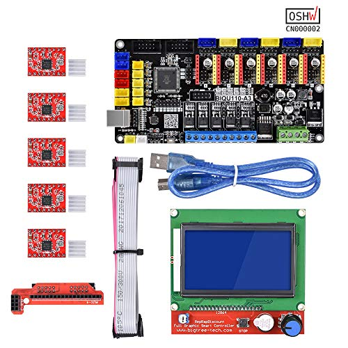 PoPprint Open Source Tango V1.0 Upgrade Rumba 3D Printer Motherboard With TMC2130/A4988/DRV8825 Driver For 12864 LCD For Reprap Mendel